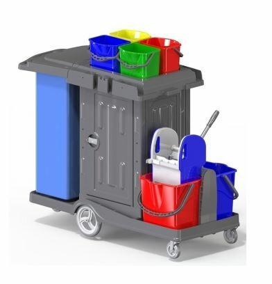 Servicewagen mit abschließbarem Schrank