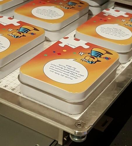 Blechdose mit Digitaldruck