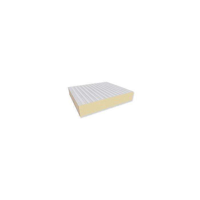 Pannello da parete autoportante con  isolante in schiuma poliuretanica, destinato a magazzini frigoriferi a bassa temperatura.