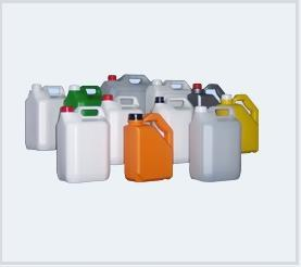 HDPE plastic  jerrrycans from 1 lt. up to 5 lt. in different shapes for many sectors .