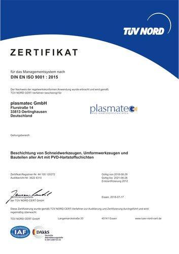 DIN EN ISO 9001: 2015