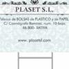 PLASET S.L. FÁBRICA DE BOLSAS DE PAPEL Y PLASTICO