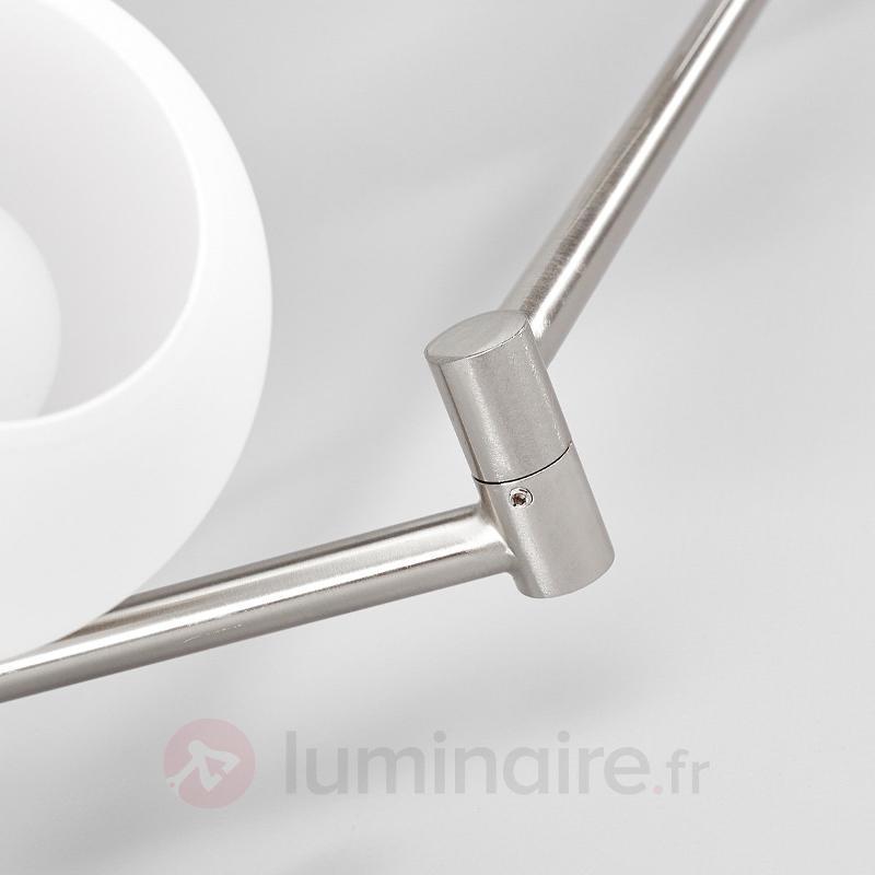 Elaina - Plafonnier LED, à 6 lampes, nickel mat - Plafonniers LED