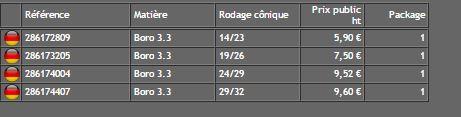 Rodage double male ( Finition Haute )  - DURAN