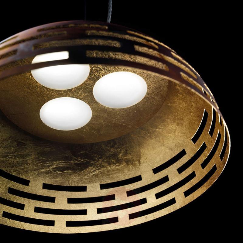 Effective LED pendant light Greka, metal - indoor-lighting