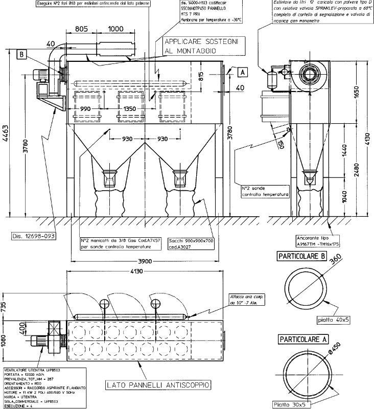 FILTRO a 14 CARTUCCE CARLO BANFI PS14 B AS AI ATEX - Accessori sabbiatrici e granigliatrici