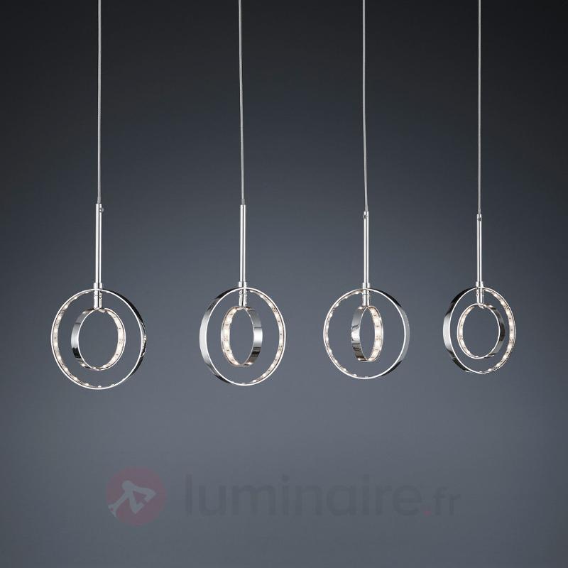 Suspension LED Prater à quatre lampes - Suspensions LED