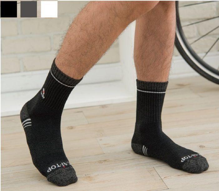 Комбинированные хлопковые бамбуковые древесно-угольные носки -
