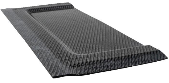 Aerolite Carbon: lastra in fibra di carbonio termoformabile - poliolefina caricata con fibre di carbonio per termoformatura