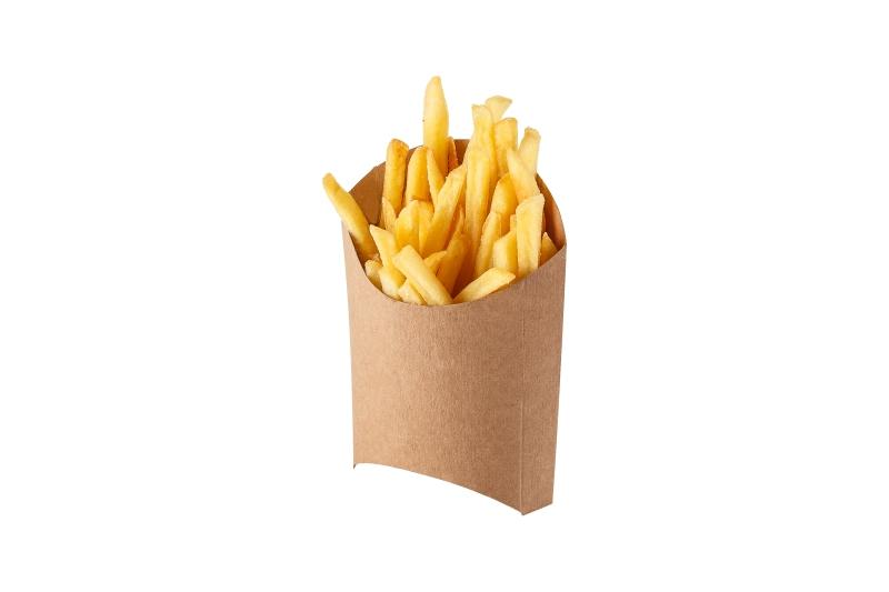 Packaging for French fries «Pure Kraft» - Kraft packaging for French fries, deep brown colour