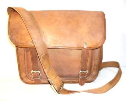 Leather Laptop Bag - Leather Laptop Bag with Front Big pocket