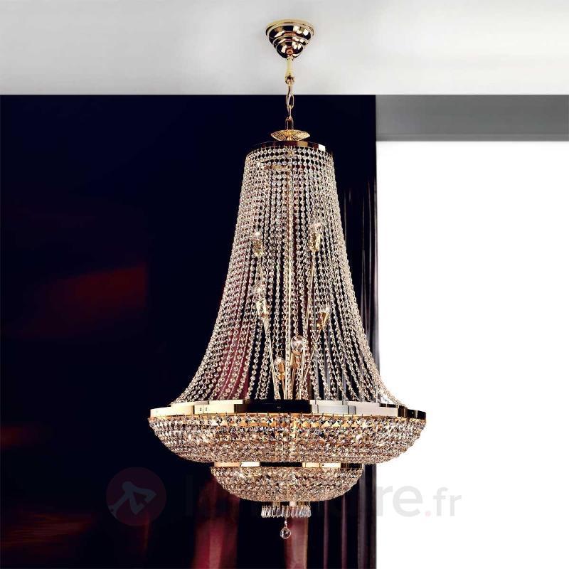 Suspension empirique SHERATON dorée 24 carats - Lustres classiques,antiques