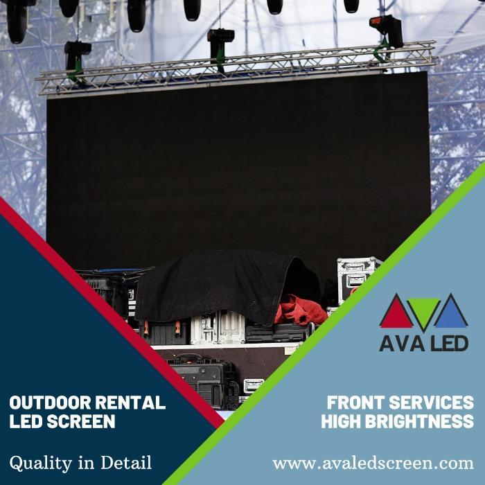 Outdoor Rental -sarjan led-näyttö - P2.6 - P2.97 - P3.91 - P4.81 Vuokrauskotelon AVA-ledinäytöt