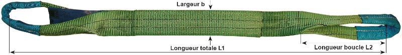 Sangles plates en polyester - Sangle plate à 2 boucles