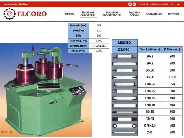 Curvadora ELCORO - CTE 90