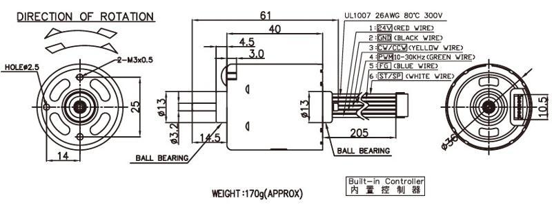 BLDC3640 - Brushless DC Motor