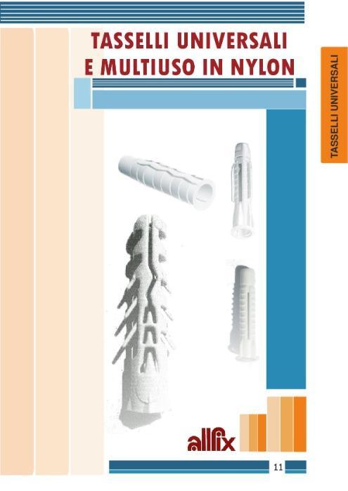 Tasselli universali in nylon - Allfix Italia