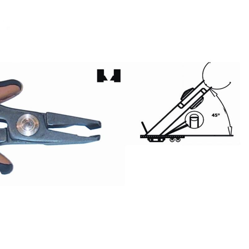 Cutter, angled at 45¡ for a front, flush cut, ESD - Oblique/Vertical cut