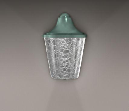 Seeded glass outdoor sconce