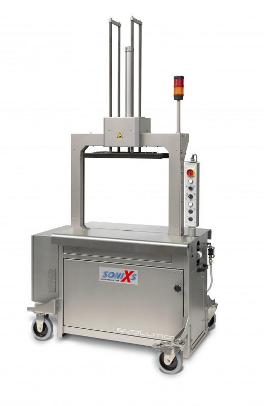 Evolution SoniXs MP-6 T-VA - Máquina flejadora automática de acero inoxidable de mesa