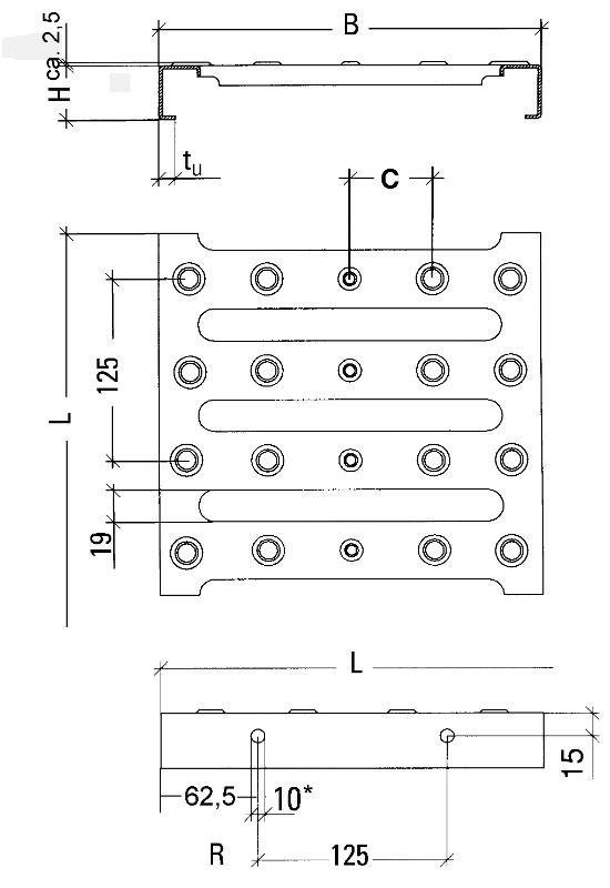 perforated metal planks - Type BP