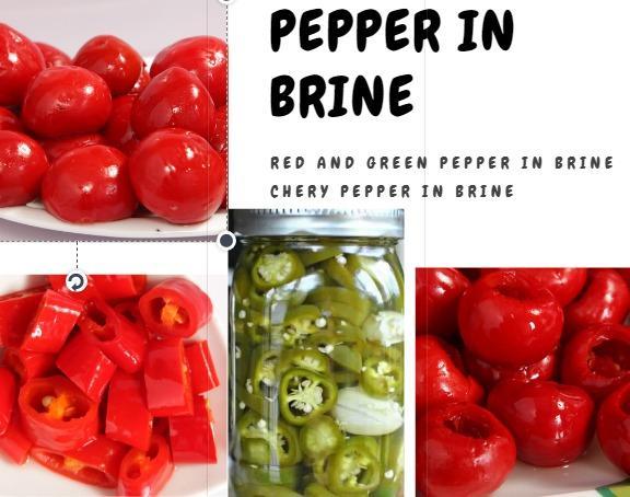 Pepper - Frozen and in brine