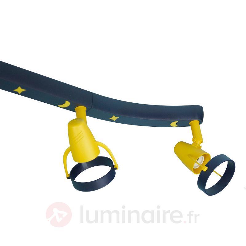 Plafonnier avec spots Joan bleu jaune - Chambre d'enfant