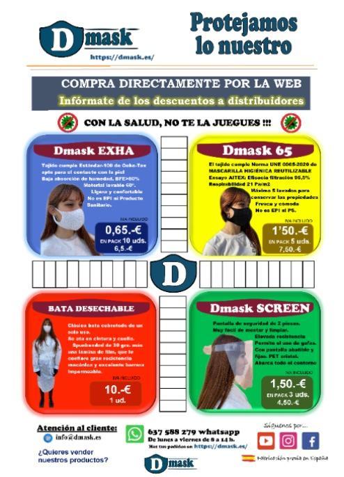 Bata sanitaria desechable - Las batas de uso desechable Dmask son útiles para cualquier tipo de profesional