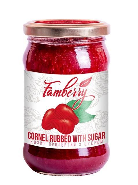 Cornel rubbed with sugar - 370 g