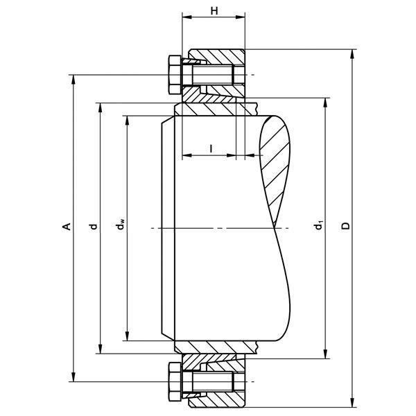 TAS-3173 Mini-Range - Shrink Discs 2-part