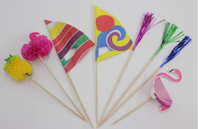Cocktail paper flags - Disposable cocktail flags for food picking