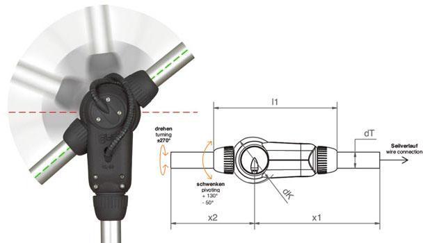 Optionally with angle sensors - null