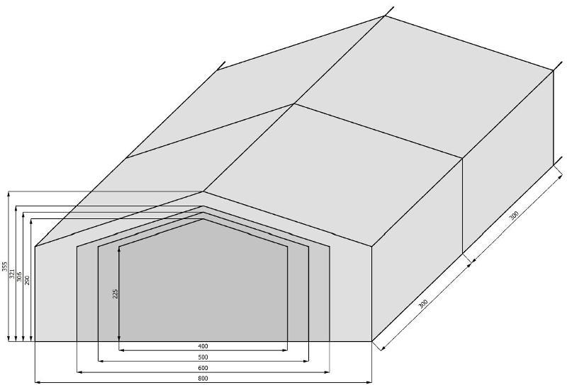 Tentes de stockage - Tentes de stockage - largeur 4m à 8m