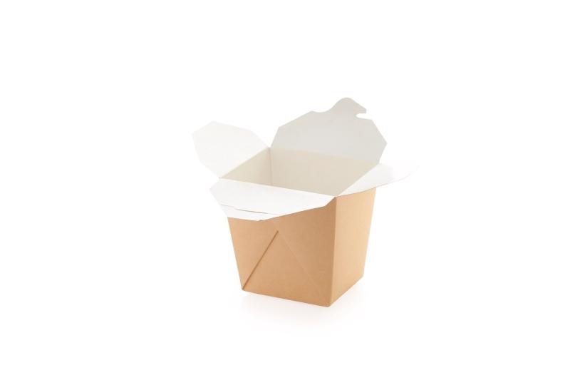Noodle Box (assembled) - Kraft noodle box, already assembled