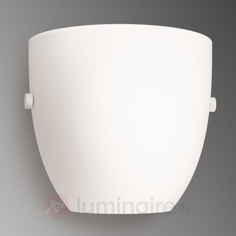 Applique LED Oval en verre blanc - Appliques en verre
