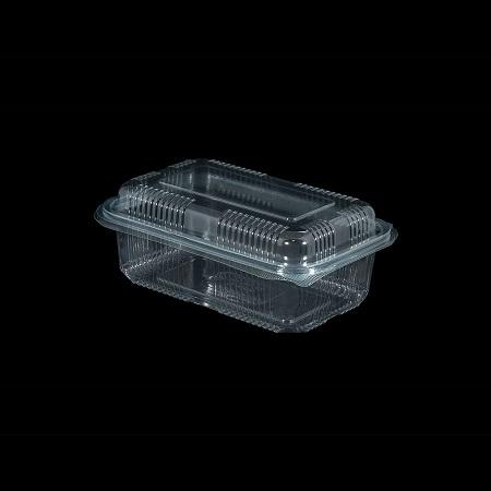 Hinged Food Containers - Disposable Hinged Lid Clear Plastic Clamshell Food Containers