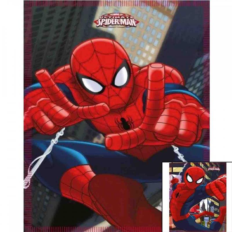 10x Plaids polaires Spiderman 140x100 - Linge de maison