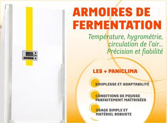 Chambres de fermentation, armoires de fermentation, chambres