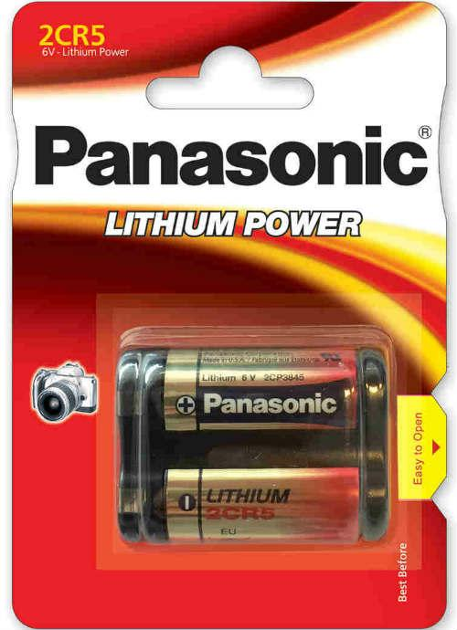 Batterie al litio Foto Power 2CR5 - 2CR-5L/1BP | Blister da 1 pila per fotocamere Panasonic