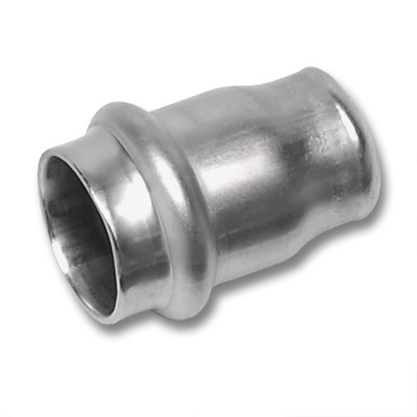 NiroSan® Endkappe - NiroSan® Endkappe, Kappe mit einer Pressmuffe