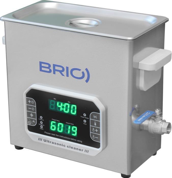 BR-6 LAB Plus - Máquina de limpieza por ultrasonidos manual de 6 L