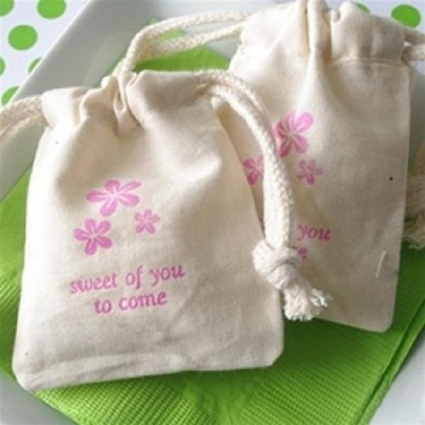 Customized and Recycled Cotton Drawstring Bag - 100% Eco Drawstring Bag and Logo Printed Of Muslin Bag