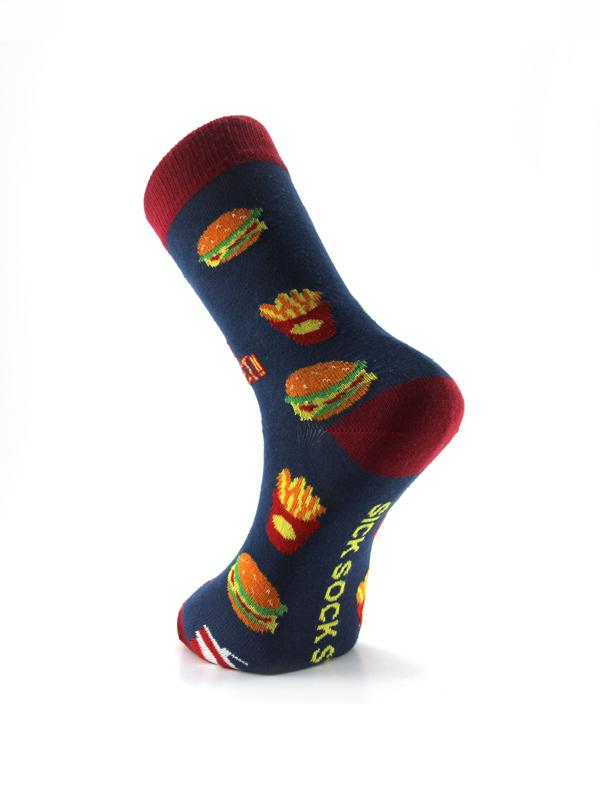 Designed Cotton Socks - Cotton Knitted Men Socks