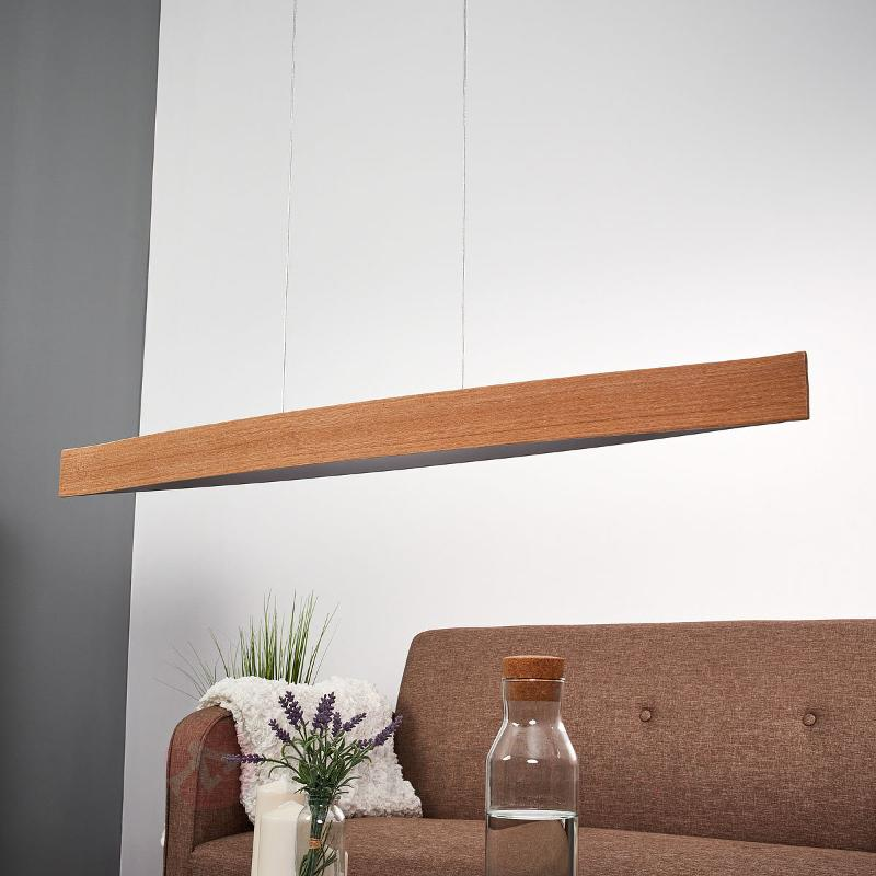 Chêne naturel - la suspension LED Fornes - Suspensions en bois