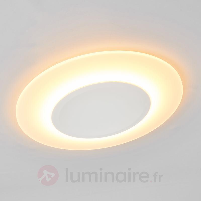 Plafonnier ultra-plat LED Flat - 1 200 lumens - Plafonniers LED