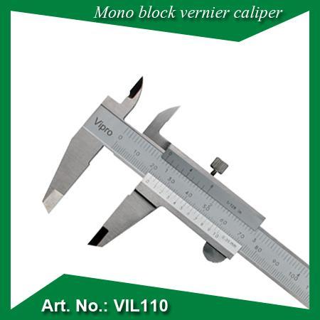 """Pied à coulisse monobloc - Résolution:0.02mm  0.02mm/0.001""""  0.05mm  0.05mm/1/128"""""""