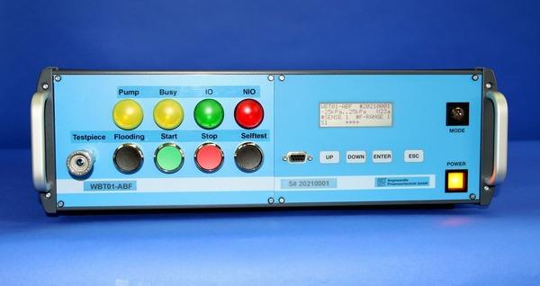 Warsztatowy tester akumulatorów WBT01 - Próba szczelności na dużych objętościach próbnych z dodatnim i/lub ujemnym ciśni