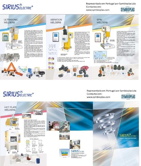 Máquinas soldar termoplásticos - Soldadura por ultrassom, vibração, rotação e pratos quentes