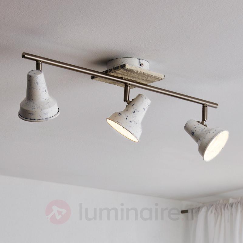 Filipina - 3 têtes plafonnier LED look vintage - Plafonniers LED