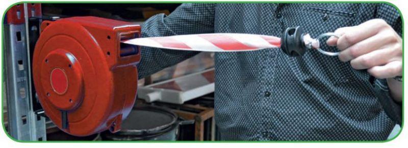 Reel with extensible ribbon - SIHASPEL